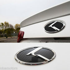 K Logo Carbon Black Rear Trunk 3D Emblem 1EA For KIA K5 Optima 2011 2012 2013