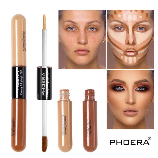 Phoera Foundation Makeup Full Coverage Liquid Base Brighten Long Lasting Shade A