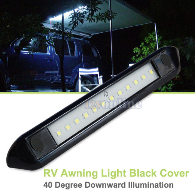"""12V 9.8"""" LED Awning Light RV Camper Motorhome Exterior Patio Wall  Lamp Cool W"""