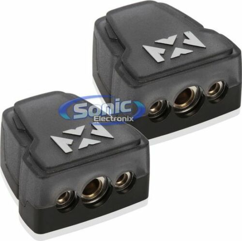 NVX XBTU2PK 2 Pack Universal Satin Chrome Positive//Negative Battery Terminals