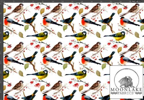 Garden Birds Fabric 100/% Cotton