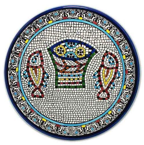 Armenian Ceramic Plate Tabgha from Jerusalem Handmade Different Sizes Gift