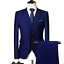 miniature 8 - Mens Suits Sets 3 Pcs Slim Fit Coats Tuxedos Groom Groomsman Formal Work Casual