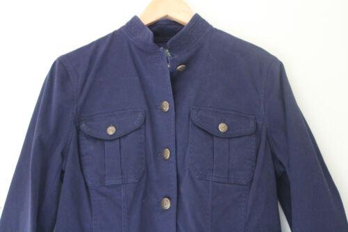 Soft Ralph Jacket Smart Cotton Jeans 180 Lrl Co Lauren Marineblauw Nwt 12 Blazer vp4aYqw5z