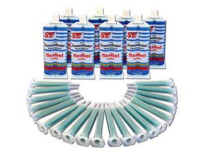 8 X 50 Ml Stc 2k Kunststoffkleber Flex Kunststoff Reparatur Set Inkl