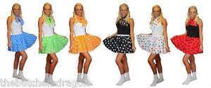 Polka-Dot-15-034-Rock-n-Roll-Skirt-Neck-Tie-Book-Week-Childs-Adults-Fancy-Dress
