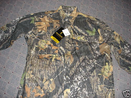 NWT  Browning Hunting Shirt - L  S in Size Med.  shop online today