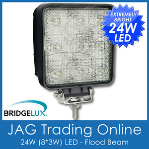 24W LED 12V~24V SQUARE FLOOD/WORK LAMP-DRIVING/BOAT/UTILITY/4X4/TRUCK/DECK LIGHT