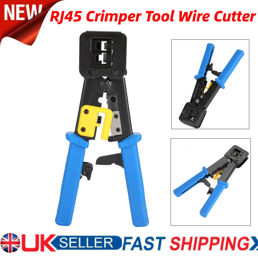 RJ45 Crimper Tool Connector Crimping Tool RJ11/RJ12 Cable Wire Cutter Pliers