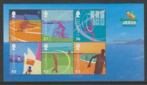 Guernesey-2003-Island-Jeux-Feuille-MNH-Sg-MS990