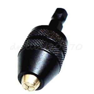 "0.3-3.6mm Keyless Drill Chuck Screwdriver Impact Driver Adaptor 1//4/"" Hex Shank"