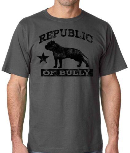 Republic of Bully Mens Pit Bull Shirt Bully Shirt in sizes small 3xl 4xl 5xl