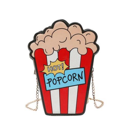 Popcorn Shaped Women Shoulder Bags Personality Design Chain Crossbody Bag //ND