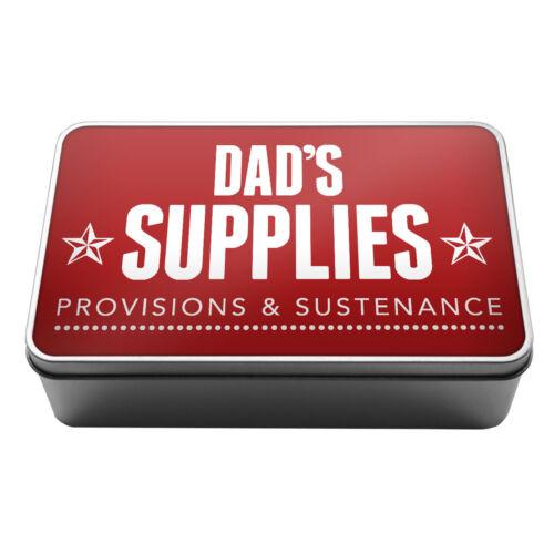 Dad/'s Fournitures dispositions /& Nourriture de conservation en métal tin box A021 idée cadeau