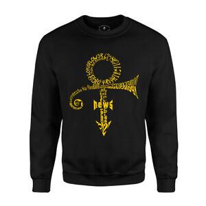 Prince-Anthology-Sweatshirt-Men-039-s-Long-Sleeve-Crew-Neck-Music-Tour-Black