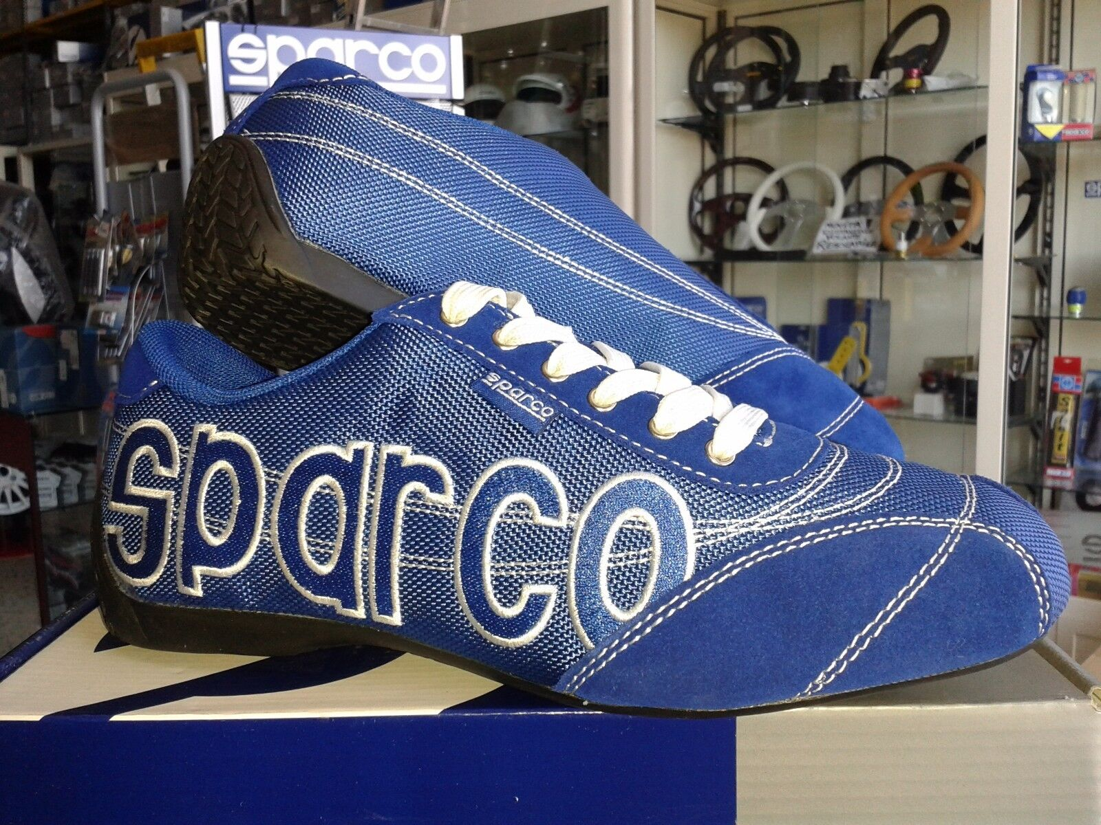SPARCO FREETIME SCHUHE LOGO BLAU SPARCO SHOES 40 TEAMWEAR SNEAKERS SPORTIVE RACE