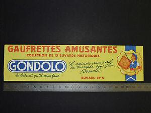 BUVARD 1950 BISCUITS GONDOLO GAUFRETTES PARIS A VAINCRE SANS PERIL CORNEILLE XhS1jTTx-09100811-476488181