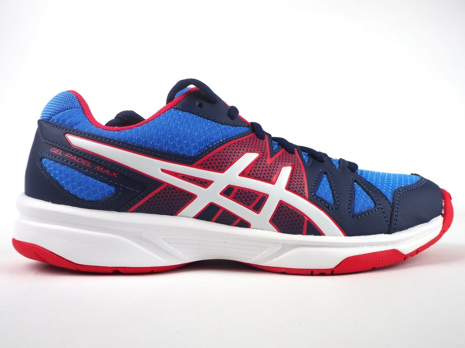 Chaussures femme Asics à Gel-padel Max 2 E562Y 4701 à Asics Lacets Bleu Rouge Blanc Femmes Baskets 367314