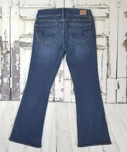Womens-American-Eagle-Outfitters-Size-6-Short-Jeans-Artist-Flare-Dark-Wash