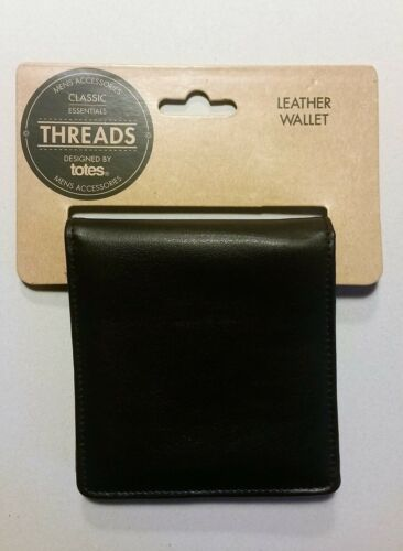 New Men/'s Black Leather Wallet by Threads Brand new Christmas present
