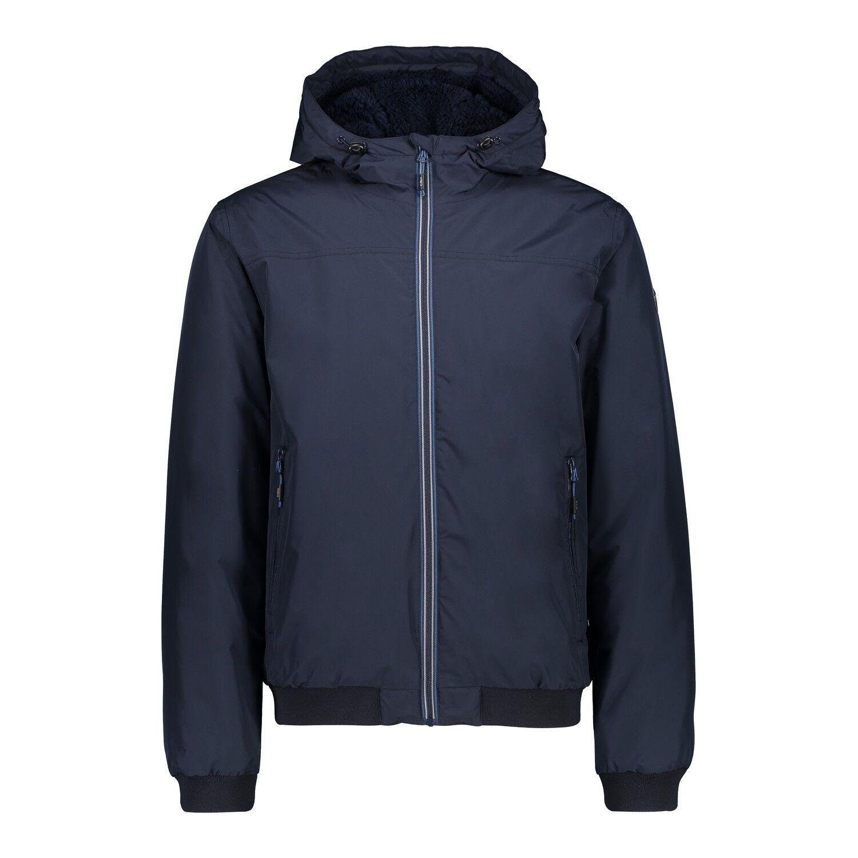 CMP hidrófuga chaqueta Man bombarderos fix Hood azul oscuro viento denso