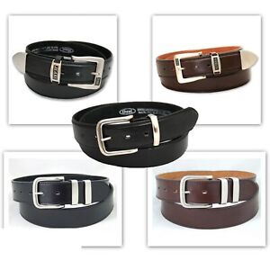 Ossi-Mens-Leather-Lined-Belt-Casual-Fashion-Designer-Waist-Strap-Buckle-Jeans