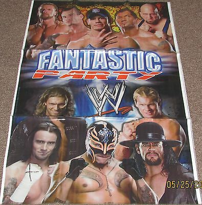 NEW 1  WWE WRESTLING  BANNER PARTY FAVORS  SUPPLIES