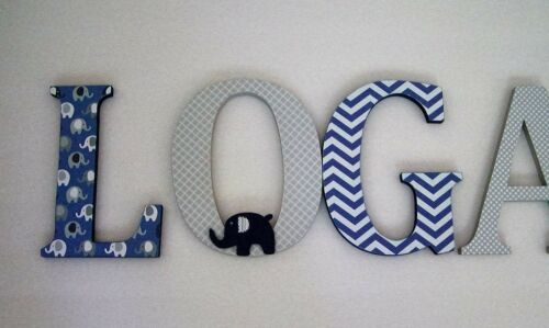 Wood Letters-Nursery Decor Custom made Many other designs available ANY NAME