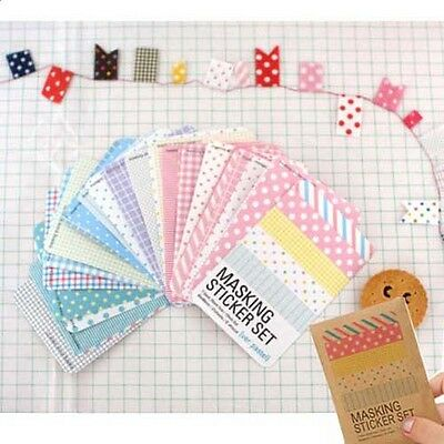 27pcs New Paper Masking Sticker Tape Scrapbooking Diary Deco Label Tag Set