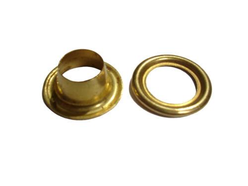 Occhielli in ottone con anelli-Falconeria 16MM-Confezione da 10//25//50