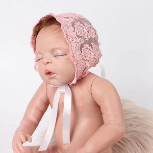 Newborn Baby Girl Photo Photography Prop Lace Floral Hat Cap Beanie Bonnet Best