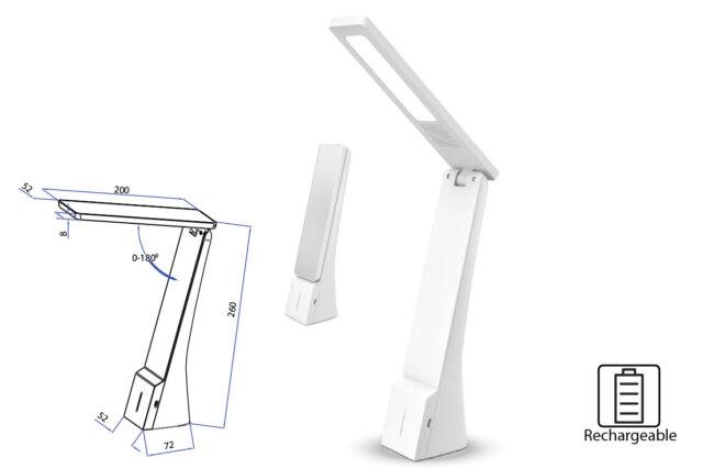 Lampe LED Kelche Wein Tisch Wiederaufladbare Mobil 4W Dimmbar IN 3 Ausschubkraft