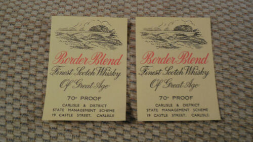 Carlisle /& District State Management Brewery FOUR GENUINE WHISKY LABELS