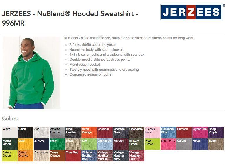 24 JerZees Hooded Bulk Sweatshirt Wholesale Bulk Hooded Lot ok to mix 2XL-4XL Colors Hoodie d7cf84
