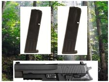 2- 10rd Mecgar Magazines Mags Clips for Sig P-226 - 9mm