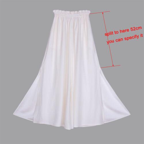 Womens 16mm 100/% Pure Silk Palazzo Pants Wide Leg Trousers Elastic Waist Bottoms