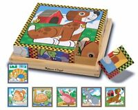 Melissa And Doug Pets Cube Puzzle , New, Free Shipping