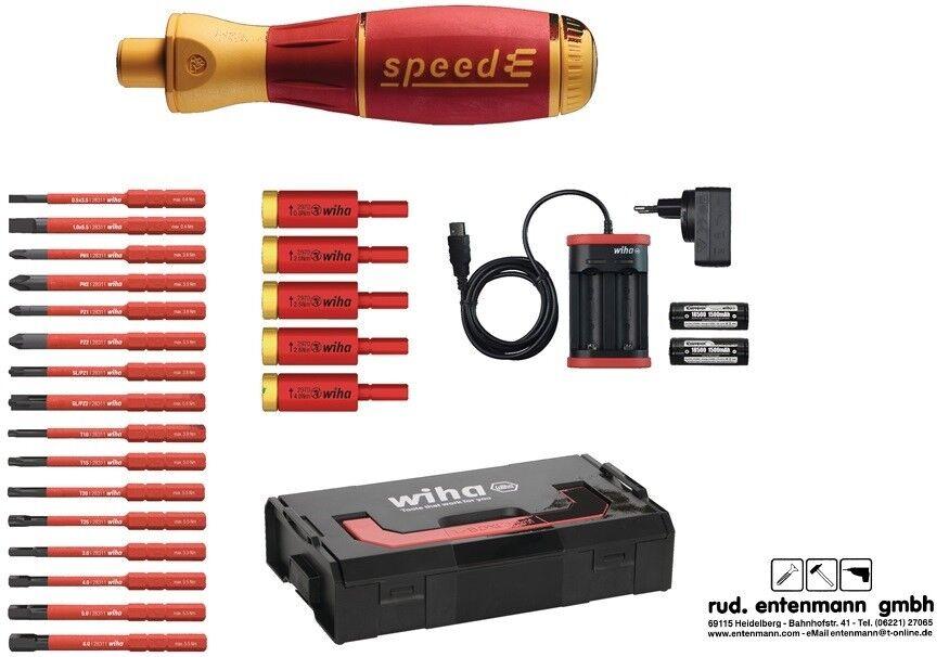 Wiha Schraubendreherset speed E® 26 teilig Akku Schl.-PH-Schlitz PZD 41913