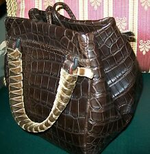2010 $7100 MALO ALLIGATOR LEATHER BAG USED 1 TIME STILL HAS ORIGINAL TAG reduced