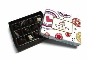 1 X GODIVA CHOCOLATE GIFT BOX DOLLHOUSE MINIATURES VALENTINE'S DAY-5