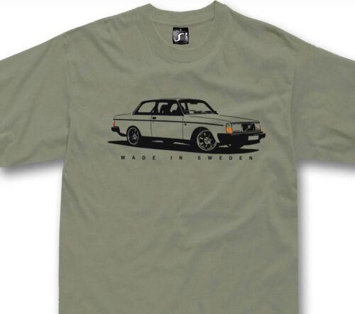 T-Shirt Pour VOLVO 242 244 fans classique suédois voiture