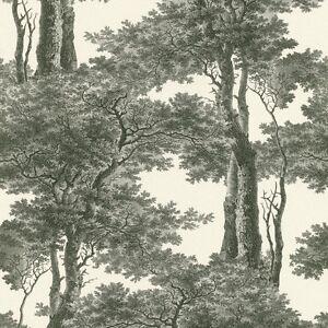 Noir-et-blanc-arbres-papier-peint-coller-le-mur-de-toile-de-jouy-paysage-605419