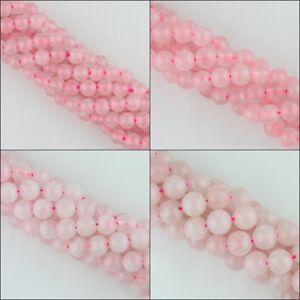 Naturali-Quarzo-Rosa-Rotondo-Palla-Distanziale-Loose-Beads-2mm-4mm-6mm-8mm-10mm-12mm