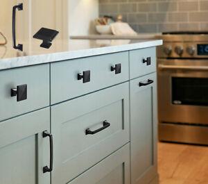 Black Kitchen Cupboard Cabinet Door Handles Wardrobe Knobs Drawer Pulls Hardware Ebay