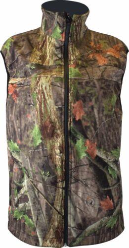 Hunting Outdoors 100/% Waterproof Tree Deep Camo Triple Layer Soft Shell Gilet