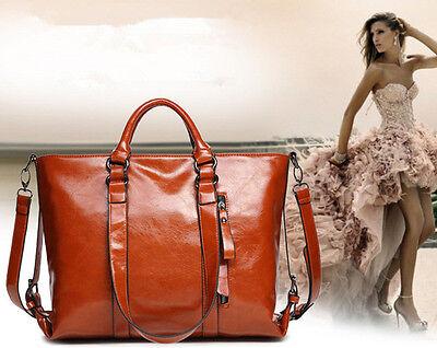 New Ladies Womens Vintage PU Leather Large Handbags Shoulder Shopper Bags Tote