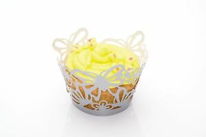Kitchen-Craft-12-Stuck-Cupcake-Dekoration-Umhullung-Wrapper-Schmetterling