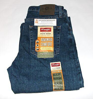 New Wrangler FiveStar Premium Denim Advanced Comfort Regular Fit Jean Men's Size