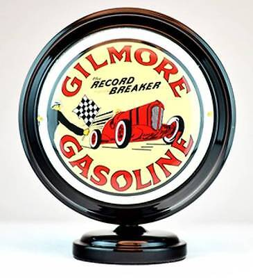 Gilmore Gasoline Gas Pump Globe Lighted Mini Sign Cabin Lodge Garage Decor New