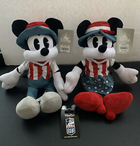 FREE SHIPPING! Disney Mickey /& Minnie Mouse Plush Set 13 Inch With Tags NEW